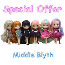 Special offer middle blyth fashion doll 20Cm joint& normal body suitable for DIY free shipping gift toy(China)