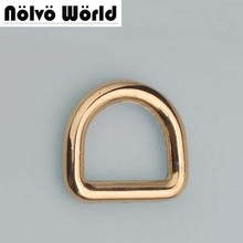 20PCS 20X16mm(3/4 inch inside) high quality golden dring bulk metal d rings for handbags bags adjusted accessories()