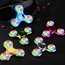 LED Light Hand Colorful Finger Spinner Plastic EDC Hand Spinner For Autism and ADHD Relief Focus Anxiety Stress Gift Toys