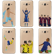 Football Soccer Star Messi Soft TPU Case For Samsung J2 Prime Cases For Samsung Galaxy J2 J5 Prime Transparent Sports Phone Case