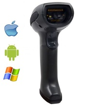 LS07B Black Rugged Industrial Wireless 2D Bar Code Scanner,Bar code Reader for Ios, Android,Windows Device