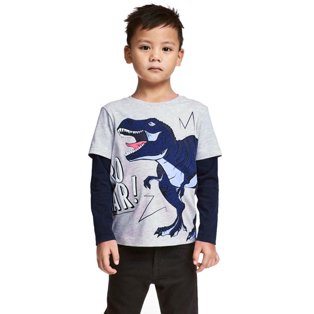 4 2 6 New Cute Boys Dinosaur Long Sleeve Top Size: 18M