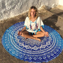 Indian Round Mandala Tapestry Wall Hanging Throw Towel Beach Yo-ga Mat Decor Boho Circle Beach Towel Serviette De Plage