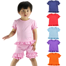 New Baby Kids Girls T-shirt Child Clothing Childrens Tops Summer Clothes Short Sleeve Tee Blouse Ruffle Shirts Tops