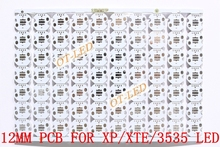 Freeshipping!12MM CREE XPE/XPG/XTE/3535 LED PCB/ Aluminum base plate/ Circuit board/PCB LED board 100pcs/lot