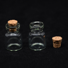 (20 pieces/lot) 1ML Mini  Essential Oil Glass Bottles 1CC Empty Glass Vials Pendant,Small Charm Glass Bottle