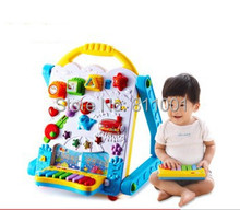 Free shipping  baby  toys  electric Multifunctional learning table  drawing board Walkers  learning & education toys for kids
