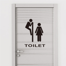 funny bathroom  entrance sign vinyl sticker For Shop Office Home Cafe Hotel Toilets door decor wall stickers 312