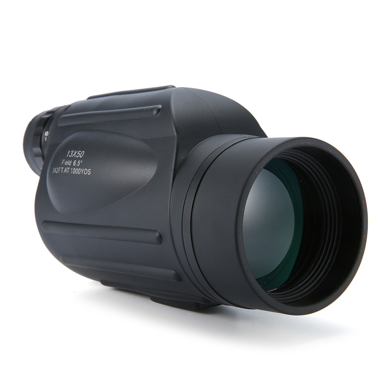 Hot 13x50 Handheld HD Monocular Spooting Scope Waterproof Eyepiece Adjustment Wide Angle Telescope with Rangefinder Function<br>