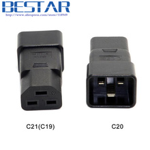 IEC320 IEC 320 C20 to C21 C19 Male to Female Extension PDU UPS Power Adapter connector Rated 10A 250V