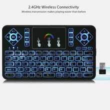 TZ Q9 Mini 2.4GHz Wireless Keyboard RGB Backlight Air Mouse Touchpad Mice for Android/Google Smart TV Air Mouse Mini Teclado