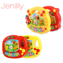 Jenilily JN5031AB Baby Kid's Animal Farm Mobile Piano Smart Music Toy Electric ENGLISH Early /Xmas Gift Free shipping
