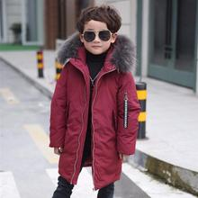 2017 new down jacket coat boy jacket big children style windbreaker winter for childrens clothing kids clothes boys duck down