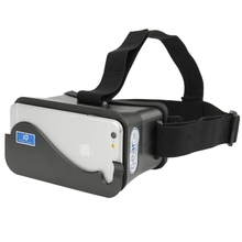Hot Selling In Stock DIY Google Cardboard Cellphone Virtual Reality 3D Glasses Glass for iPhone Samsung HTC Cellphones(China)