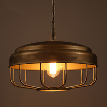 Loft Cafe restaurant retro minimalist pendant light creative artistic personality gilt bronze bar table pendant lamp(China)