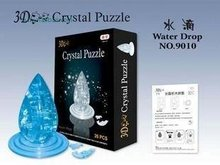 DIY TOY for children 3D Crystal Puzzle (pyramid) Educational toy,Wholesale and Retail(China)