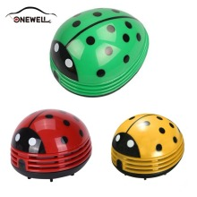 ONEWELL Mini Ladybug Car Cleaner Dust Collector Car Electronics Car Electrical Appliances Vacuum Cleaner(China)