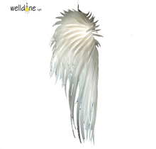 Modern pendent light romantic angel wings PVC feather bedroom AC85-265V for lighting decoration