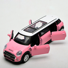1:32 Metal Car Toy Models MINI Cooper Car Model Sound & Light Emulation Electric Pull Back Car Birthday Christmas Gift(China)