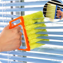 1PC Colorful Plastic Fiber Detachable Fuzzy Blind Window Brush Air Conditioner Cleanser Louver Cleaning Bolosy(China)