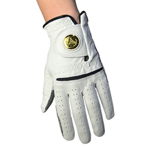 2017 Mens Soft Sheepskin Leather Golf Gloves Left Hand Glove With Anti-slip Ggranules Golf Protective Gloves with Ball Marker(China)