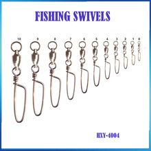 10/PCS Fishing Brass Coastlock Snap Swivels Fishing Line to Hook Connector Swivels All Sizes 10-0 HXY-4004(China)