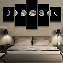 5 Panels canvas prints LUNAR CYCLES canvas painting home decor Wall Art canvas poster(China)