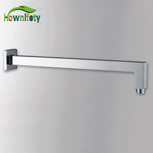 Fashion Chrome Finish Soild Brass Wall Mounted Shower Arm Connect Shower Head Free Shipping(China)