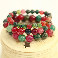 Korean Explosion Popcorn Crystal Rainbow Hand-woven Couple Bracelet Holiday Gift(China)