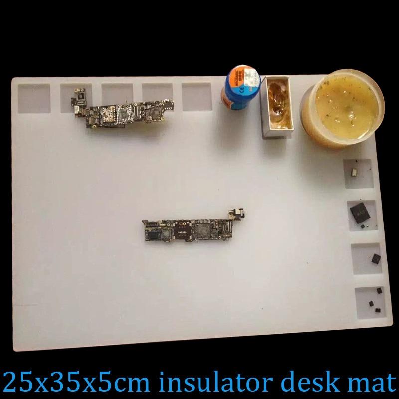 Heat-resistant Heat Gun Phone BGA Soldering Station Repair insulation pad insulator pad desk mat maintenance platform 25x35x5cm<br><br>Aliexpress