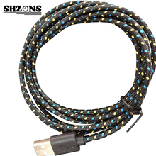 Nylon Braided Wire Cable USB Data Sync Charging Cable Cord for iPhone 5 5s 5c 6 6s Plus IOS 9.3.4 or Below 1m Micro USB Cable