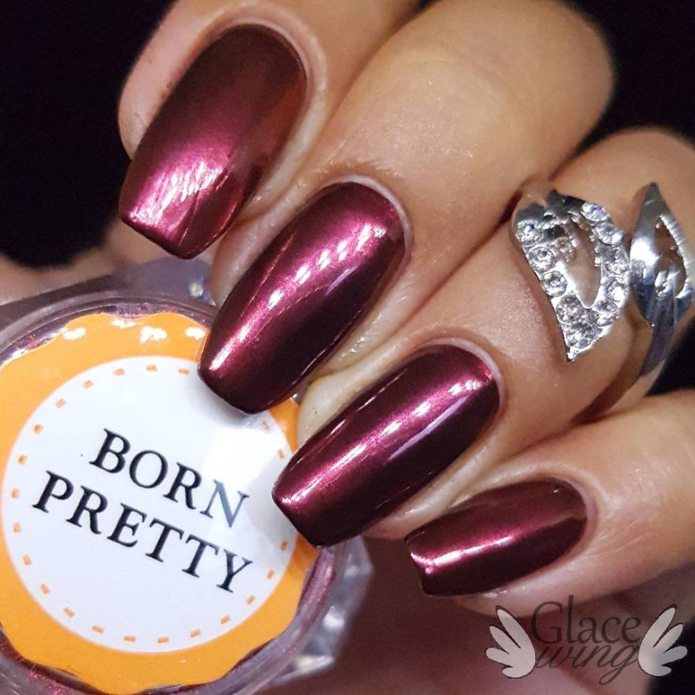 BORN PRETTY Mirror Nail Glitter Pigment Powder 1g Gold Blue Purple Dust Manicure Nail Art Glitter Chrome Powder Decorations 5