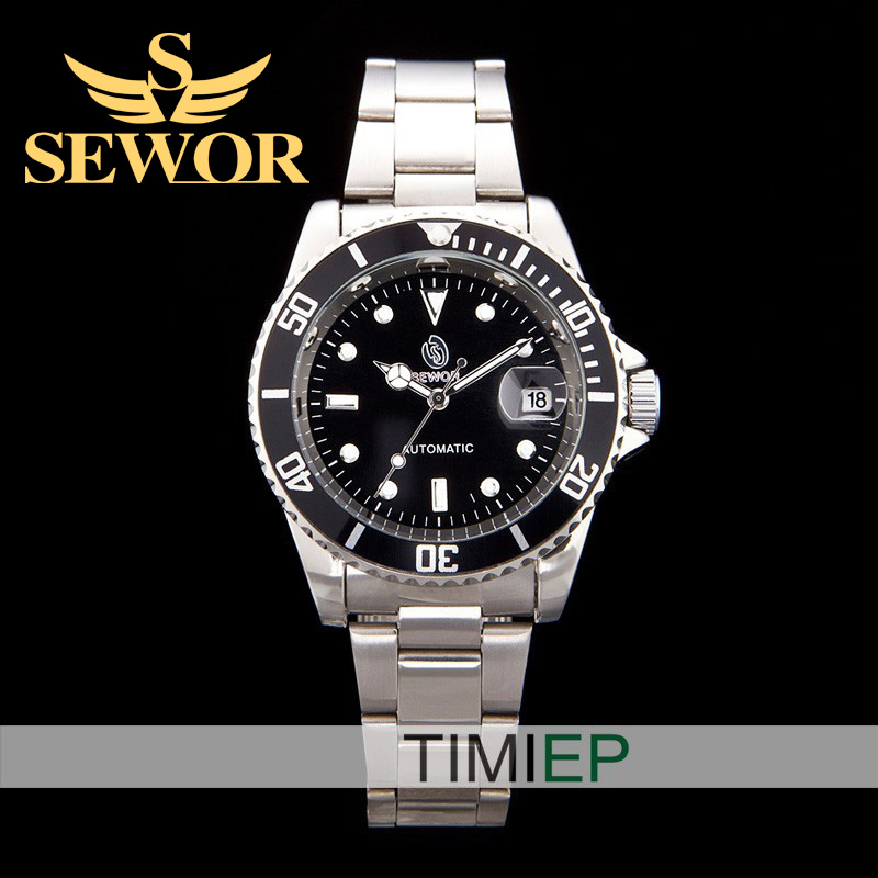 SEWOR Deluxe version of the classic crystal Automatic Mens quartz watch Valentine Gift<br><br>Aliexpress