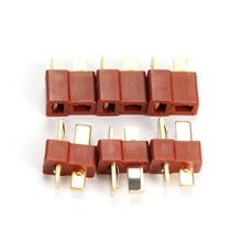 Top Quality 10 Pairs T Plug Male and Female Connectors for RC Lipo Battery Helicopter Free shipping(China)
