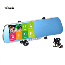 "EMAID 5"" Car DVR GPS Navigation Android Touch Full HD 1080P Car Camera Dual Lens Parking Rearview Mirror Wifi Camera Video(China)"