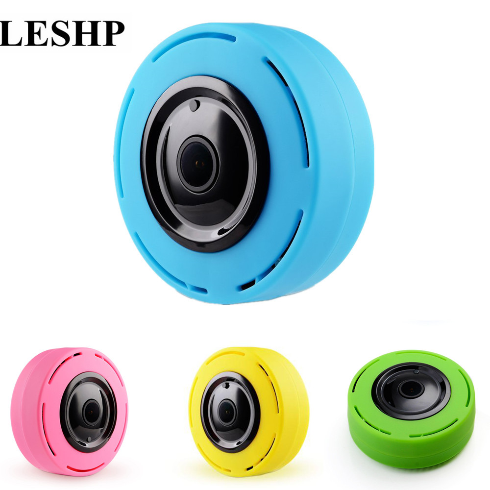 LESHP IP Camera Mini HD Smart Wireless Monitoring Camera Household WIFI Panoramic Camera Device P2P Network Camera Support Alarm<br>