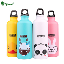 500ml Lovely Animals Outdoor Portable Outdoor Sports Cycling Camping Bicycle Aluminum Alloy School kids Water Bottle(China)