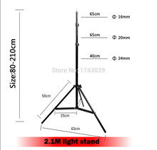 Photographic equipment Pro Photo Studio 6.9ft 210cm 2.1m light stand with 1/4 screw head  LS-210A