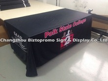 Free shipping8 ' ,  four sided Table cloth, table cover, heat transfer printing  table throws with customs LOGO printing,