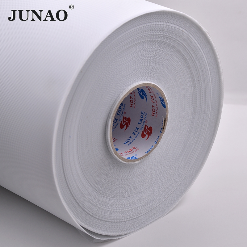 JUNAO 10 Meter 24cm Width Hot Fix Rhinestone Paper Heat Transfer Mylar Tape Iron On Crystals Paper For Making Rhinestone Motif(China (Mainland))