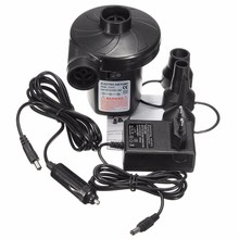Electric Air Pump DC12V/AC230V Inflate Deflate Pumps Car Inflator Electropump with 3 Nozzles US Plug EUR Plug(China)