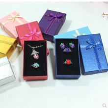 Wholesale Multi colors Jewelry Box 5*8 cm Jewelry Sets Display Box Necklace/Earrings/Ring Box Packaging Gift Box 24pcs/lot(China)