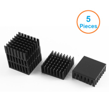 5pcs/lot Black Aluminum Fin 28x28x11mm Electronic Cooling Radiator Heatsink for CPU,GPU Graphics Video Card,1W LED dissipator