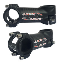 Buy FCFB matt stem glossy sticker alloy + 3k carbon road bicycle mountain bike parts stem 80 /90/ 100 /110mm patented technology for $22.96 in AliExpress store