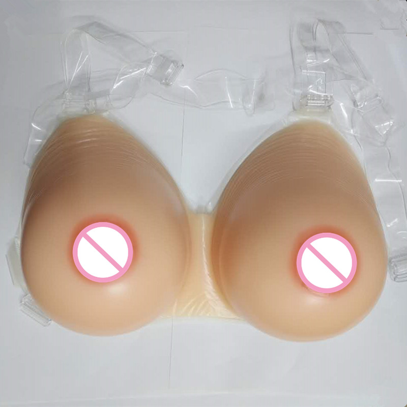 New Soft Nature Realistic Fake Silicone Breasts Forms Artificial Skin Boobs for Cross Dressing Drag Queen or Women Enhancement <br>