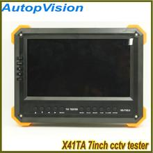 X41TA AHD cctv tester SDI New Multifunction 7 inch HD camera tester with 1920x1080P 2MP HD Resolution