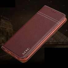 Luxury Original Brand GEBEI Genuine Leather Flip Unique Magnet Design Stand Case Cover For Samsung Galaxy S7 Edge S8 Plus