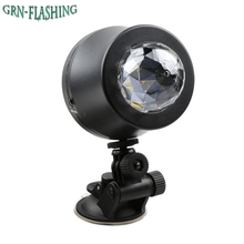 Mini 6W RGB LED car Stage Light Magic Crystal Rotating Ball Sound/Auto Control Stage Lamps LED Party Lamp USB Powered DC 5V