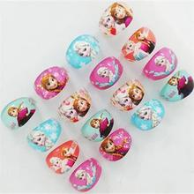 20/pcs 1pack New Snow Romance Children Cartoon Ring Princess Aisha Anna Jewelry Random Color, Can Not Choose Colors And Styles(China)