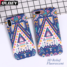 Buy OLOEY Geometric Graphic Pattern Case iphone 7 Case iphone8 8PLus X Phone Cases Colorful Abstract Triangle Back Cover for $1.80 in AliExpress store